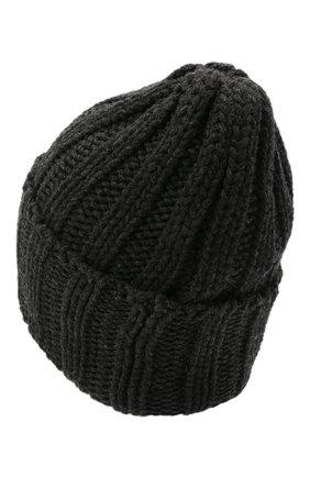 Мужская кашемировая шапка INVERNI темно-серого цвета, арт. 1128 CM   Фото 2 (Материал: Шерсть, Кашемир; Кросс-КТ: Трикотаж)