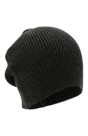 Мужская кашемировая шапка INVERNI темно-серого цвета, арт. 0122 CM   Фото 1 (Материал: Кашемир, Шерсть; Кросс-КТ: Трикотаж)
