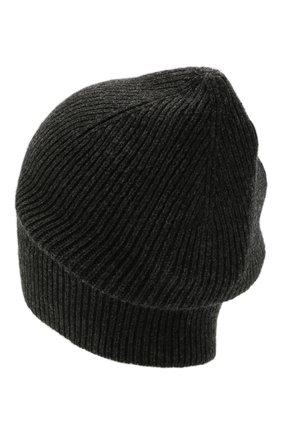 Мужская кашемировая шапка INVERNI темно-серого цвета, арт. 0122 CM   Фото 2 (Материал: Кашемир, Шерсть; Кросс-КТ: Трикотаж)