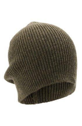 Мужская кашемировая шапка INVERNI хаки цвета, арт. 0122 CM   Фото 1 (Материал: Кашемир, Шерсть; Кросс-КТ: Трикотаж)