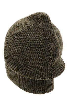 Мужская кашемировая шапка INVERNI хаки цвета, арт. 0122 CM   Фото 2 (Материал: Кашемир, Шерсть; Кросс-КТ: Трикотаж)