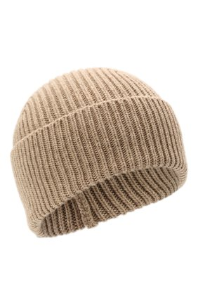 Мужская кашемировая шапка INVERNI бежевого цвета, арт. 5321 CM   Фото 1 (Материал: Кашемир, Шерсть; Кросс-КТ: Трикотаж)