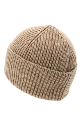 Мужская кашемировая шапка INVERNI бежевого цвета, арт. 5321 CM   Фото 2 (Материал: Кашемир, Шерсть; Кросс-КТ: Трикотаж)