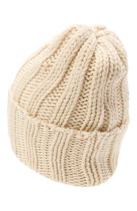 Мужская кашемировая шапка INVERNI кремвого цвета, арт. 1128 CM   Фото 2 (Материал: Шерсть, Кашемир; Кросс-КТ: Трикотаж)