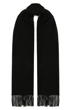 Мужской кашемировый шарф CORNELIANI черного цвета, арт. 88B275-1829016/00 | Фото 1 (Материал: Кашемир, Шерсть; Кросс-КТ: кашемир)