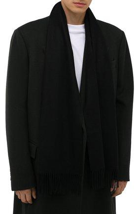 Мужской кашемировый шарф CORNELIANI черного цвета, арт. 88B275-1829016/00 | Фото 2 (Материал: Кашемир, Шерсть; Кросс-КТ: кашемир)