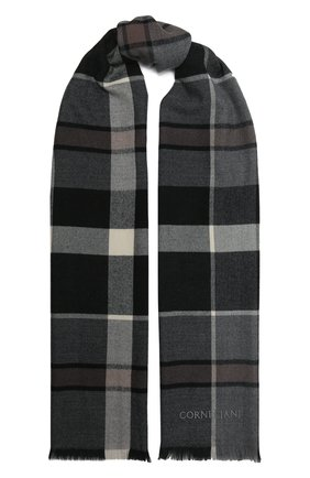 Мужской шерстяной шарф CORNELIANI темно-серого цвета, арт. 88B323-1829072/00   Фото 1