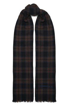 Мужской кашемировый шарф CORNELIANI коричневого цвета, арт. 88B390-1829023/00   Фото 1