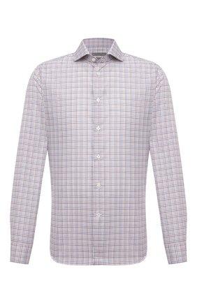 Мужская хлопковая рубашка CORNELIANI разноцветного цвета, арт. 88P002-1811265/00 | Фото 1