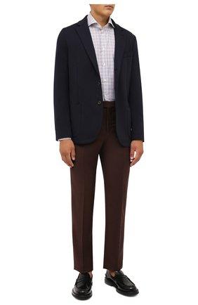 Мужская хлопковая рубашка CORNELIANI разноцветного цвета, арт. 88P002-1811265/00 | Фото 2