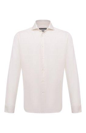 Мужская хлопковая сорочка CORNELIANI кремвого цвета, арт. 88P002-1811624/00 | Фото 1