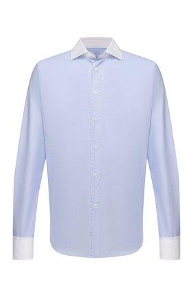 Мужская хлопковая сорочка CORNELIANI голубого цвета, арт. 88P110-1811270/00 | Фото 1