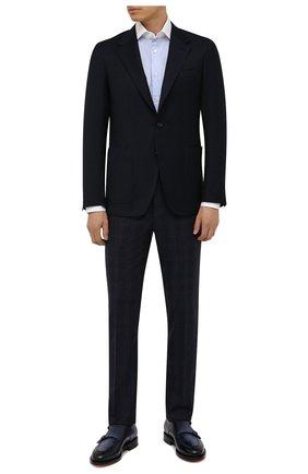 Мужская хлопковая сорочка CORNELIANI голубого цвета, арт. 88P110-1811270/00 | Фото 2