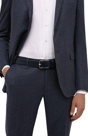 Мужской кожаный ремень CORNELIANI темно-синего цвета, арт. 88V301-1820830/00 | Фото 2