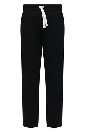 Мужские брюки ERMENEGILDO ZEGNA темно-синего цвета, арт. N6N001130 | Фото 1 (Материал внешний: Синтетический материал, Хлопок; Случай: Повседневный; Мужское Кросс-КТ: Брюки-трикотаж; Стили: Спорт-шик; Длина (брюки, джинсы): Стандартные)