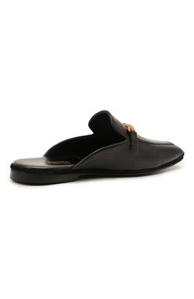 Мужского кожаные домашние туфли FARFALLA черного цвета, арт. D4XAM   Фото 4 (Материал внутренний: Натуральная кожа; Мужское Кросс-КТ: тапочки-обувь)