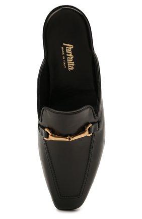Мужского кожаные домашние туфли FARFALLA черного цвета, арт. D4XAM   Фото 5 (Материал внутренний: Натуральная кожа; Мужское Кросс-КТ: тапочки-обувь)
