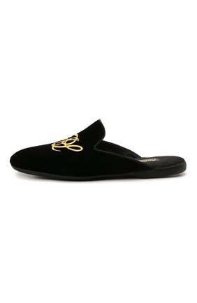 Мужского текстильные домашние туфли FARFALLA черного цвета, арт. G15R | Фото 3 (Материал внешний: Текстиль; Материал внутренний: Натуральная кожа, Текстиль; Мужское Кросс-КТ: тапочки-обувь)