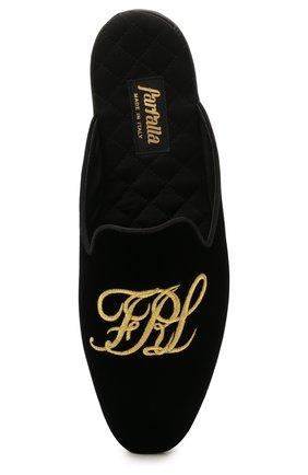 Мужского текстильные домашние туфли FARFALLA черного цвета, арт. G15R | Фото 5 (Материал внешний: Текстиль; Материал внутренний: Натуральная кожа, Текстиль; Мужское Кросс-КТ: тапочки-обувь)