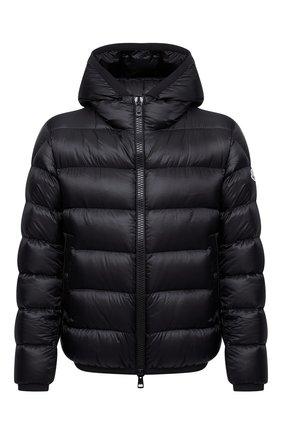 Мужская пуховая куртка myosotis MONCLER черного цвета, арт. G2-091-1A000-97-53334 | Фото 1 (Рукава: Длинные; Материал утеплителя: Пух и перо; Материал внешний: Синтетический материал; Материал подклада: Синтетический материал; Длина (верхняя одежда): Короткие; Кросс-КТ: Куртка; Мужское Кросс-КТ: пуховик-короткий; Стили: Кэжуэл)
