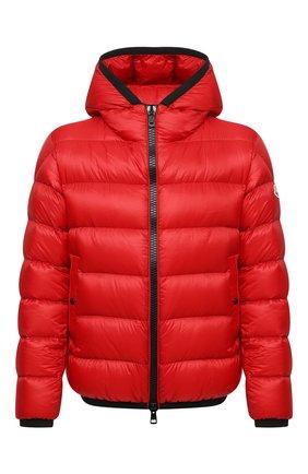 Мужская пуховая куртка myosotis MONCLER красного цвета, арт. G2-091-1A000-97-53334 | Фото 1 (Материал подклада: Синтетический материал; Материал внешний: Синтетический материал; Материал утеплителя: Пух и перо; Кросс-КТ: Куртка; Мужское Кросс-КТ: пуховик-короткий; Длина (верхняя одежда): Короткие; Стили: Кэжуэл; Рукава: Длинные)
