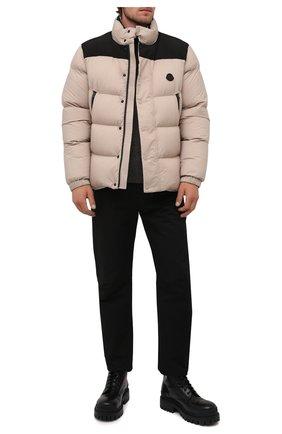 Мужская пуховая куртка timsit MONCLER бежевого цвета, арт. G2-091-1A000-33-53333   Фото 2