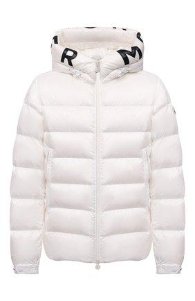 Мужская пуховая куртка salzman MONCLER белого цвета, арт. G2-091-1A000-09-53048 | Фото 1 (Материал внешний: Синтетический материал; Материал утеплителя: Пух и перо; Материал подклада: Синтетический материал; Кросс-КТ: Куртка; Мужское Кросс-КТ: пуховик-короткий; Длина (верхняя одежда): Короткие; Стили: Кэжуэл; Рукава: Длинные)