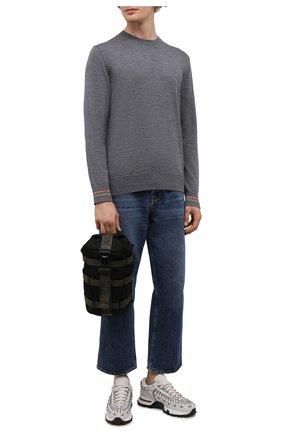 Мужской текстильный рюкзак argens mono MONCLER черного цвета, арт. G2-09A-5A705-00-02SKQ | Фото 2 (Материал: Текстиль; Ремень/цепочка: На ремешке)