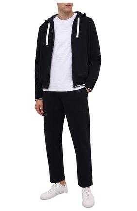Мужская хлопковая футболка MONCLER белого цвета, арт. G2-091-8C000-54-8390T | Фото 2 (Материал внешний: Хлопок; Рукава: Короткие; Принт: С принтом; Стили: Кэжуэл; Длина (для топов): Стандартные)