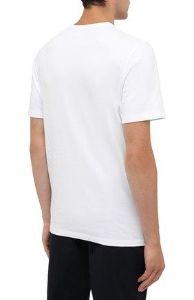 Мужская хлопковая футболка MONCLER белого цвета, арт. G2-091-8C000-42-8390T   Фото 4 (Рукава: Короткие; Длина (для топов): Стандартные; Принт: С принтом; Материал внешний: Хлопок; Стили: Кэжуэл)
