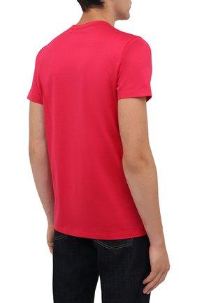 Мужская хлопковая футболка MONCLER фуксия цвета, арт. G2-091-8C000-38-8390Y | Фото 4 (Принт: Без принта; Рукава: Короткие; Длина (для топов): Стандартные; Материал внешний: Хлопок; Стили: Кэжуэл)