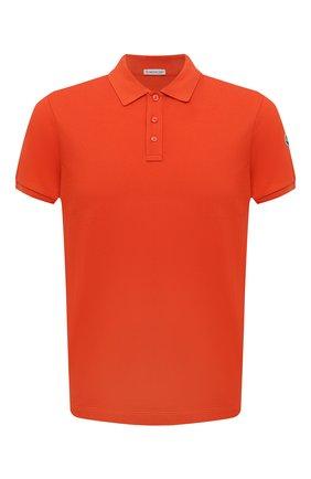 Мужское хлопковое поло MONCLER оранжевого цвета, арт. G2-091-8A705-10-84556 | Фото 1