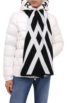 Мужской шерстяной шарф MONCLER черно-белого цвета, арт. G2-091-3C000-05-M1299 | Фото 2