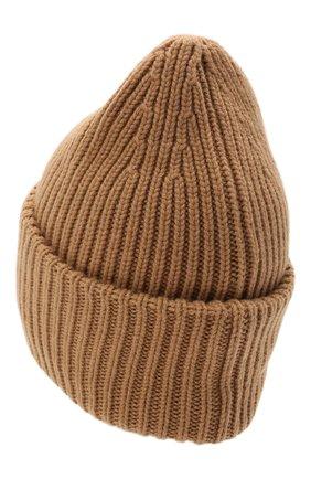 Мужская шапка из шерсти и кашемира MONCLER темно-бежевого цвета, арт. G2-091-3B000-48-M1127   Фото 2