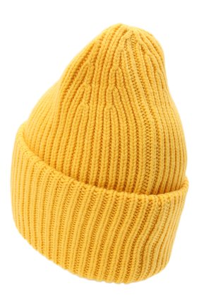 Мужская шапка из шерсти и кашемира MONCLER желтого цвета, арт. G2-091-3B000-48-M1127 | Фото 2 (Материал: Кашемир, Шерсть; Кросс-КТ: Трикотаж)
