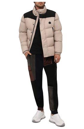 Мужские джоггеры из хлопка и шелка DOLCE & GABBANA разноцветного цвета, арт. GWMVHT/GES14   Фото 2 (Длина (брюки, джинсы): Стандартные; Материал внешний: Хлопок; Силуэт М (брюки): Джоггеры, Карго; Стили: Гранж)