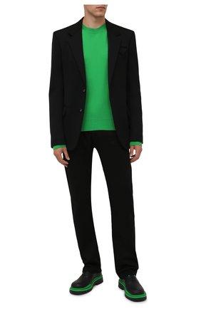 Мужские кожаные оксфорды tire BOTTEGA VENETA черного цвета, арт. 667073/VBS50 | Фото 2 (Материал внутренний: Натуральная кожа; Стили: Классический)