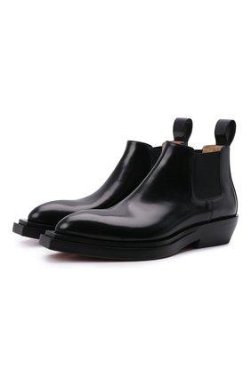 Мужские кожаные челси chisel BOTTEGA VENETA черного цвета, арт. 667084/V10T0 | Фото 1 (Подошва: Плоская; Материал внутренний: Натуральная кожа; Мужское Кросс-КТ: Сапоги-обувь, Челси-обувь, Казаки-обувь)