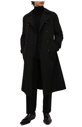 Мужские кожаные челси chisel BOTTEGA VENETA черного цвета, арт. 667084/V10T0 | Фото 2 (Подошва: Плоская; Материал внутренний: Натуральная кожа; Мужское Кросс-КТ: Сапоги-обувь, Челси-обувь, Казаки-обувь)