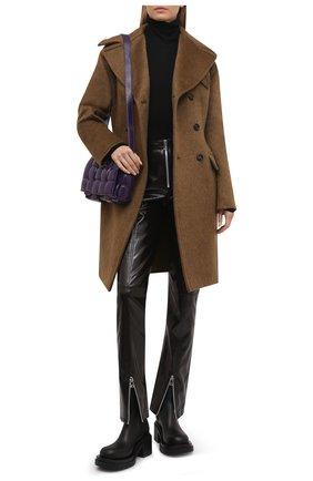 Женские кожаные ботильоны bv lug BOTTEGA VENETA черного цвета, арт. 667144/VBS50 | Фото 2 (Подошва: Платформа; Каблук высота: Средний; Материал внутренний: Натуральная кожа; Каблук тип: Устойчивый)