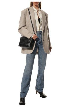 Женские кожаные ботильоны the block BOTTEGA VENETA черного цвета, арт. 667208/VBS00 | Фото 2 (Каблук тип: Устойчивый; Материал внутренний: Натуральная кожа; Каблук высота: Средний; Подошва: Плоская)
