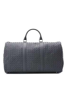 Мужская кожаная дорожная сумка BOTTEGA VENETA серого цвета, арт. 650061/V0E51   Фото 1