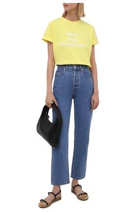 Женская хлопковая футболка SEVEN LAB желтого цвета, арт. T21-MNC G01 yellow   Фото 2