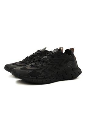 Женские комбинированные кроссовки zig kinetica 21 REEBOK черного цвета, арт. GZ8803 | Фото 1