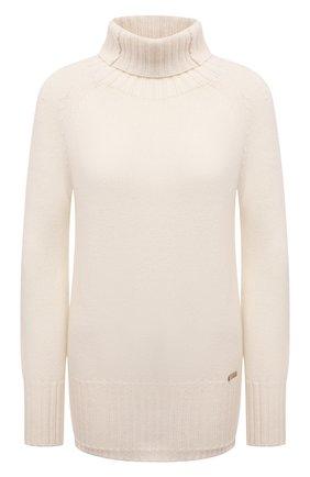 Женский свитер из шерсти и кашемира MANZONI24 кремвого цвета, арт. 21M563-X/38-46   Фото 1