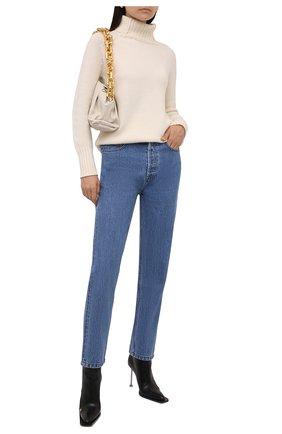 Женский свитер из шерсти и кашемира MANZONI24 кремвого цвета, арт. 21M563-X/38-46   Фото 2