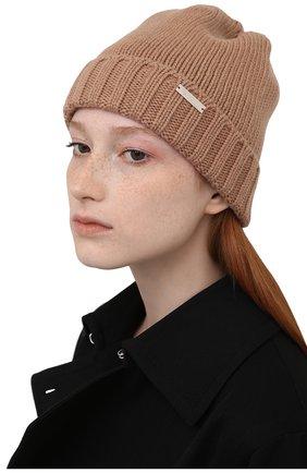 Женская кашемировая шапка MOORER коричневого цвета, арт. VETTA-CWS/M0DMA100023-TEPA177 | Фото 2