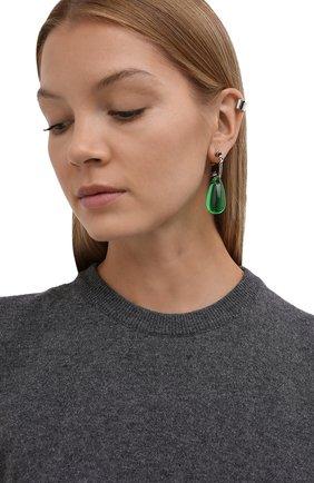 Женские набор из трех серег ALEXANDER MCQUEEN зеленого цвета, арт. 669614/I11WY | Фото 2