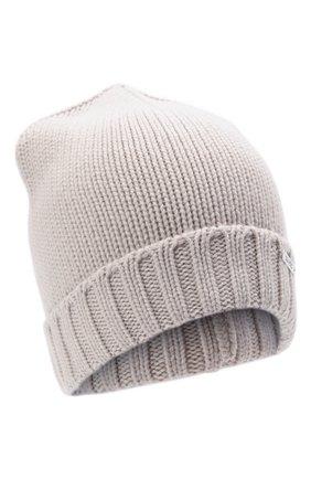 Женская кашемировая шапка MOORER серого цвета, арт. VETTA-CWS/M0DMA100023-TEPA177 | Фото 1