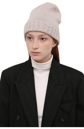 Женская кашемировая шапка MOORER серого цвета, арт. VETTA-CWS/M0DMA100023-TEPA177 | Фото 2